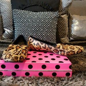 Steve Madden Leopard Print Studded Spikes Loafers